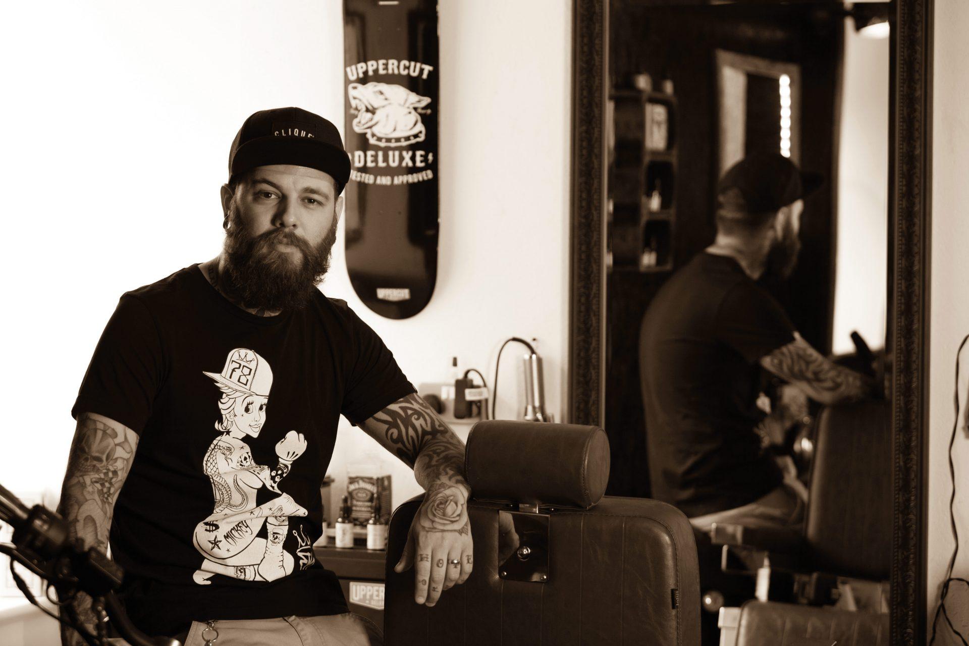 Cornwall College barbering alumni Dan Blackwell of Clique