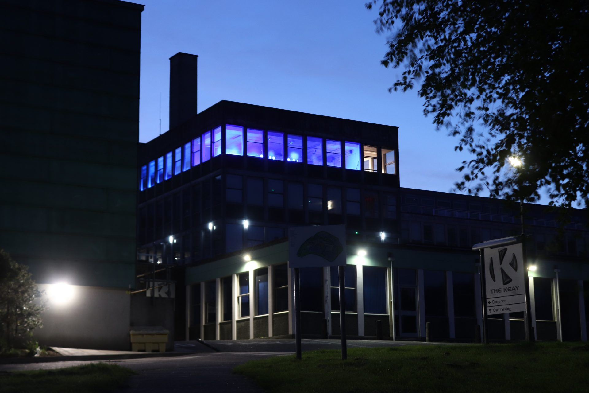 Local college lights up in lockdown