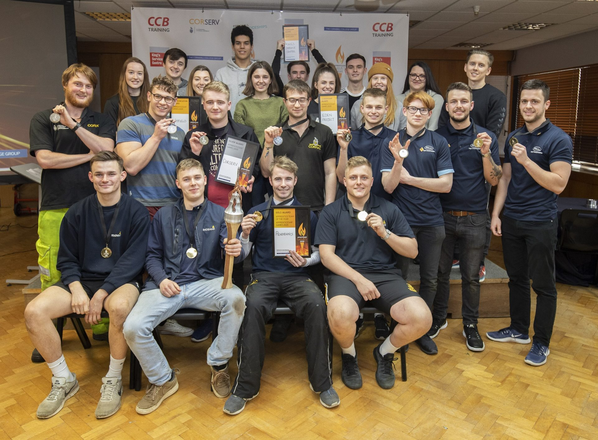 Winning teams at the Apprenticeship Games February 2020