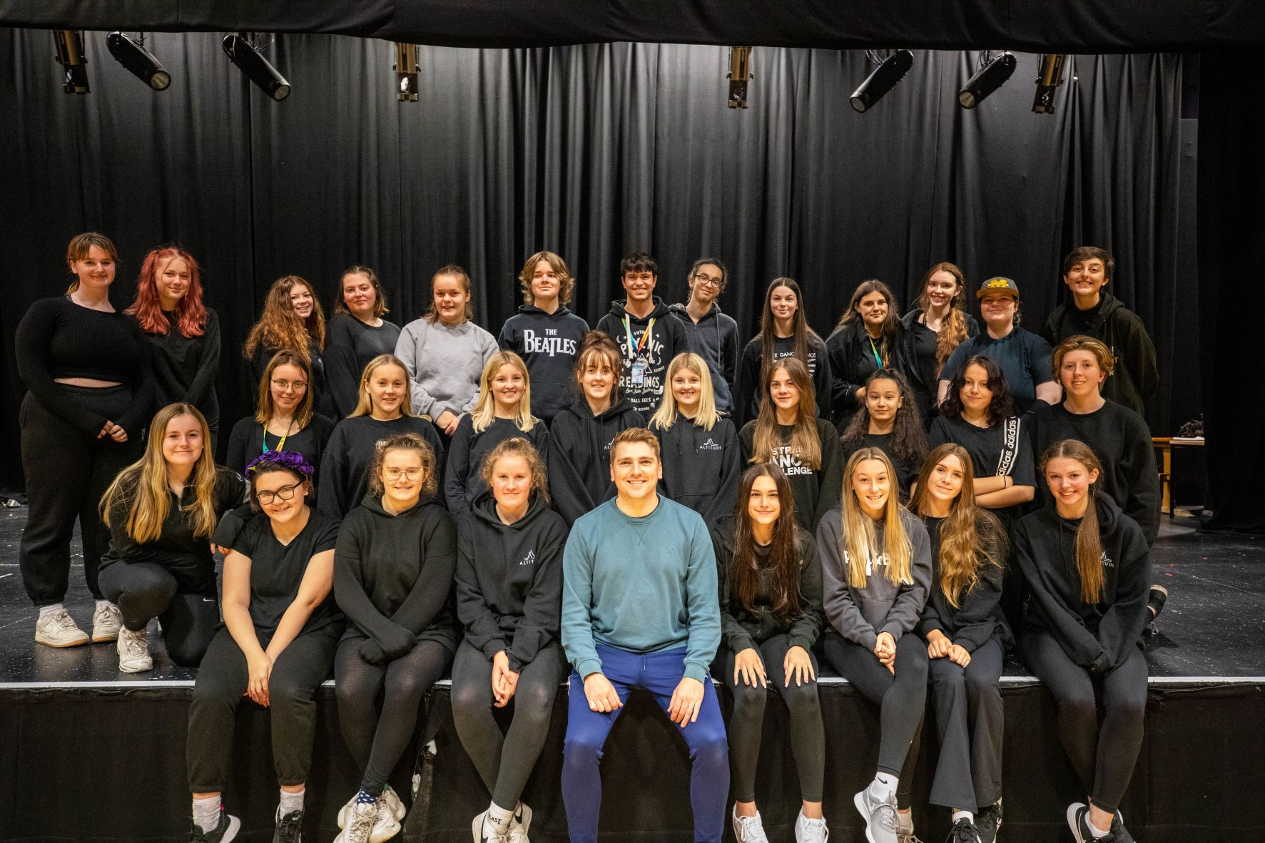 Students in spotlight with Les Mis star's acting workshop